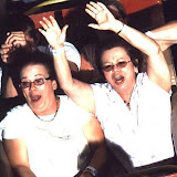 Pam and bonnie on Rollo Coaster at Idlewild.