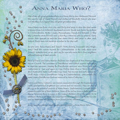Anna Maria Who scrapbook page