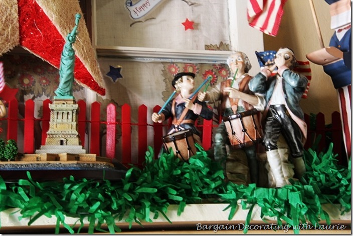 4th of July parade on mantel