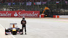 Sebastian Vettel has to give up with a broken gearbox