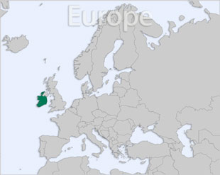 Ireland location map