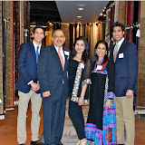 Hasan, Mahmud, Fatima, Zeba and Ali Jafri at Dover Rug & Home grand opening