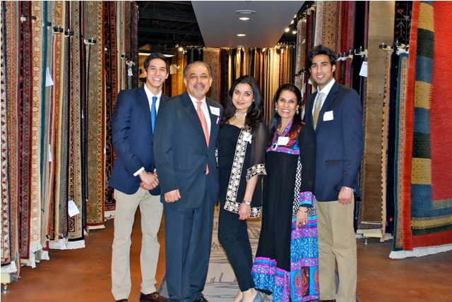 Hasan, Mahmud, Fatima, Zeba and Ali Jafri at Dover Rug & Home grand opening