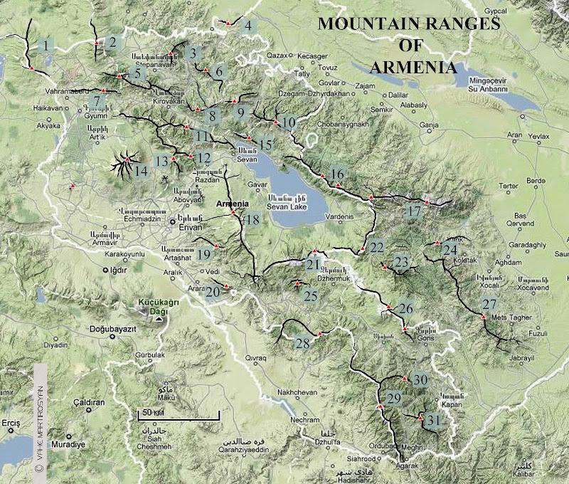 Картинки по запросу հհ լեռներ քարտեզ