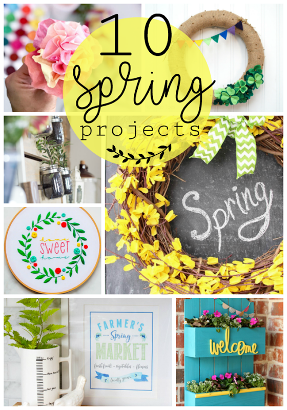 10 Spring Projects at GingerSnapCrafts.com #spring #homedecor