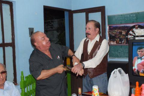 Dr. Salvador Treviño y Don Leonel Garza