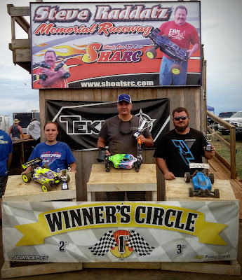 1/8 Electric Buggy Pro 1st, TQ: Steven Froghorn 2nd: Trevor Parrish 3rd: Freddy Marsh