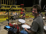 Keith gets to play Matt Chaberlain's kit...this is the guy who recorded One Headlight...so of course Al starts playing it