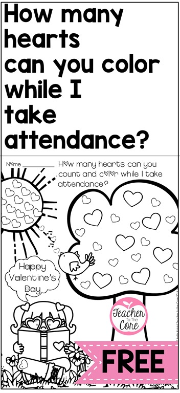 Keep the kids in your class  busy while you take attendance- From Teacher to the Core