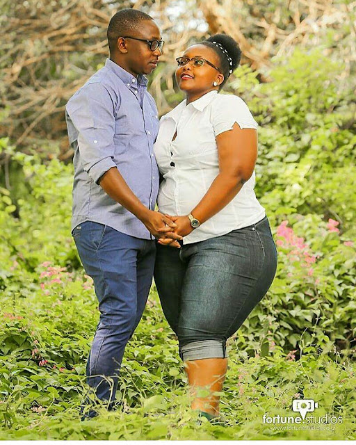 Man Showoff His Big and short Fiancee in New Pre- wedding Photo