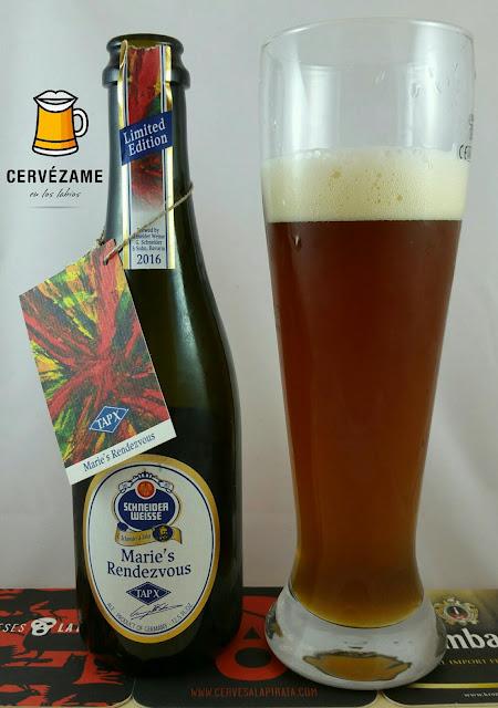 cerveza beer Schneider Weisse TAP X  Marie´s Rendenzvous Cervezame en los labios