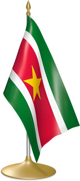 Surinamese table flags - desk flags