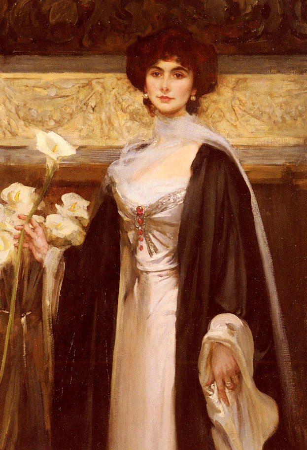 James Jebusa Shannon - White Lilies