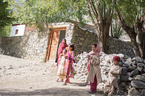 Meeting the shy local kids of Trich village, Ghizer