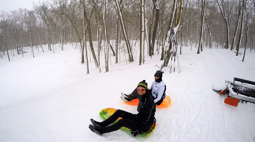 If you finish up a ski around Mother North Star and want to take a run down the sledding hill, go for it!!