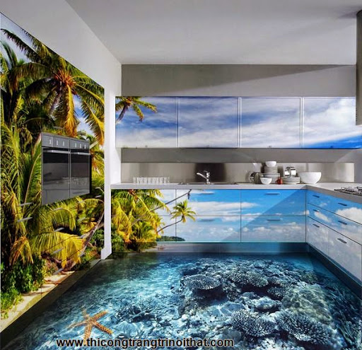 Biến phòng tắm thành đại dương với tranh nghệ thuật 3D đầy ấn tượng - Thi công trang trí nội thất-6