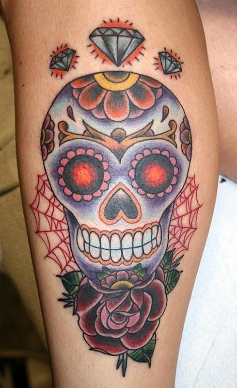 cinzento_diamante_de_açcar_tatuagem_de_caveira
