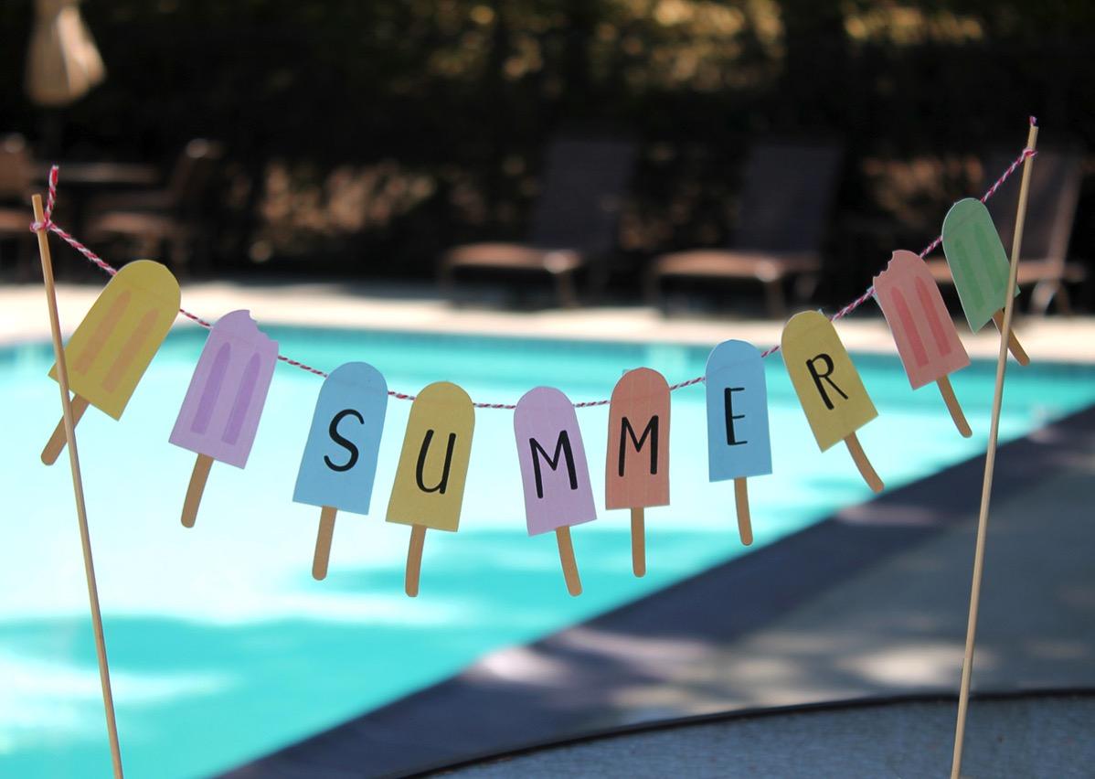 Summper popsicle banner