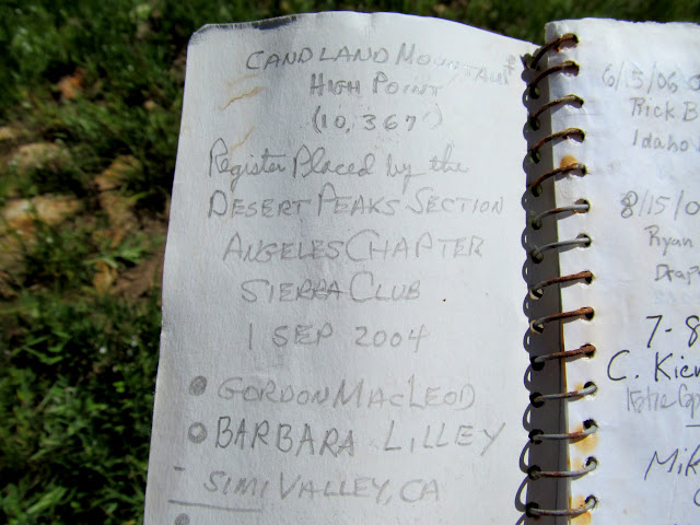 Candland Mountain summit register