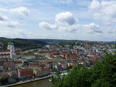 Auf der Oberveste hat man einen tollen Blick auf die Altstadt Passaus