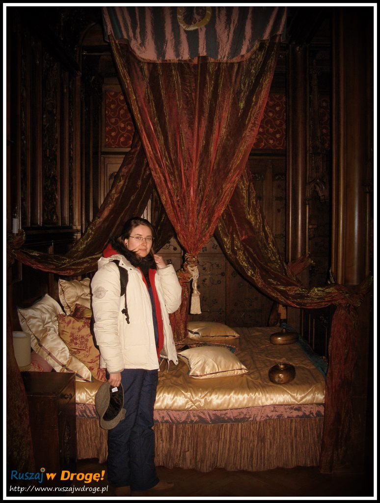 zamek czocha - łoże w komnacie książęcej