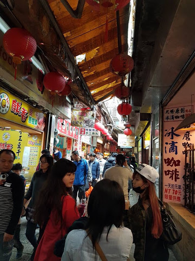 Wandering through old street of Jiufen in Taiwan