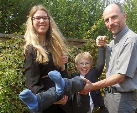 Sabrina, Felix, Christoph: Erstkommunion