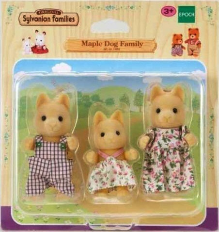Hộp sản phẩm Sylvanian Families Gia đình nhà chó Maple
