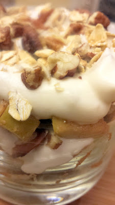 Build your Apple Cranachan Recipe in layers of oat honey cream, nuts, and apples in a glass to show off the layers - either do this for your guests or let your guests built it on their own! Complete by topping with the toasted oats