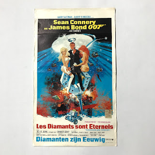 "James Bond ""Les Diamonts sont Eternels"" Belgian Poster"