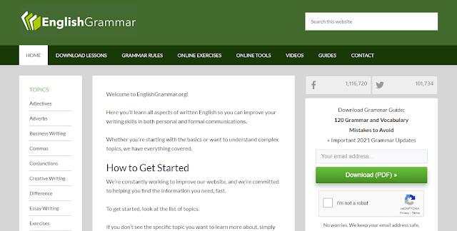 Kuasai Grammar Bahasa Inggris Di Website English Grammar