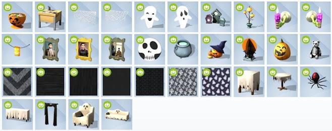 De Sims 4 Griezelige Accessoires nieuwe voorwerpen