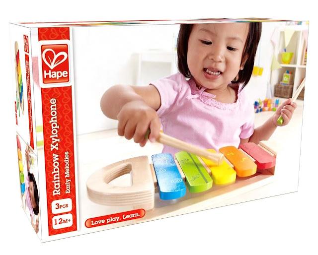 Đàn đồ chơi bằng gỗ Hape Rainbow Xylophone