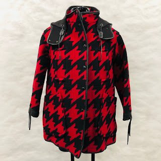Coach NEW Houndstooth Parka