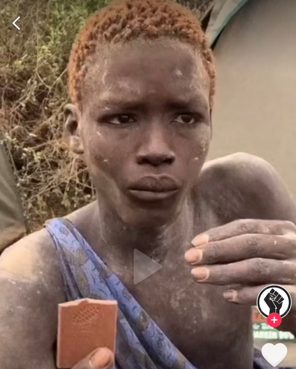 """Tearing-up! """"Here Is The most beautiful human I've ever seen"""" Photo of African man eating chocolate elicits unusual reactions from Americans"""