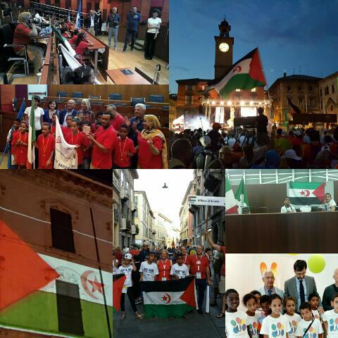 علم الدولة الصحراوية ورمز النضال من أجل التحرر والإستقلال يغزوا المدن والمقرات الرسمية والساحات والبيوت الإيطالية