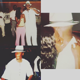 Image result for Annie Idibia shares throwback of 2face singing to her on her 21st birthday