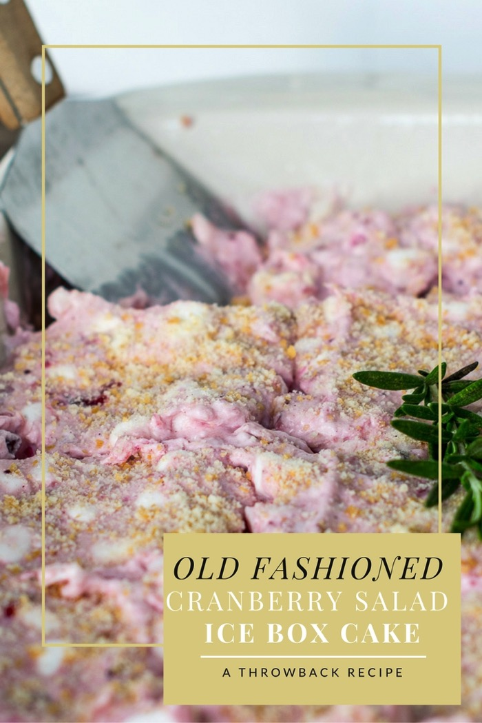 old fashioned cranberry salad. This dessert recipe combines cranberry ...