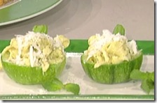 Zucchine ripiene di tagliolini