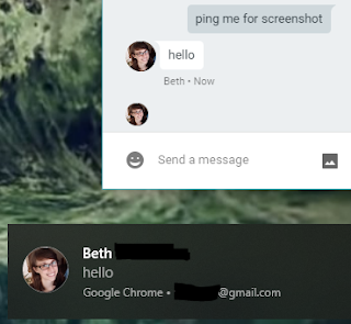 Hangouts extension messages now triggering Windows 10