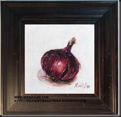 framed red onion