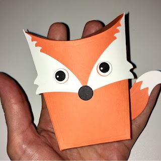 Schachtel mit Fuchs, gebastelt mit Papier und Sizzix Framelits