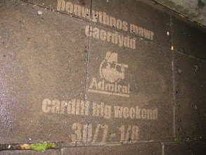 Photo: Reverse Graffiti for the Cardiff Big Weekend