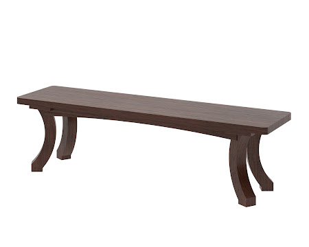 Montrose Bench in Temperance Walnut