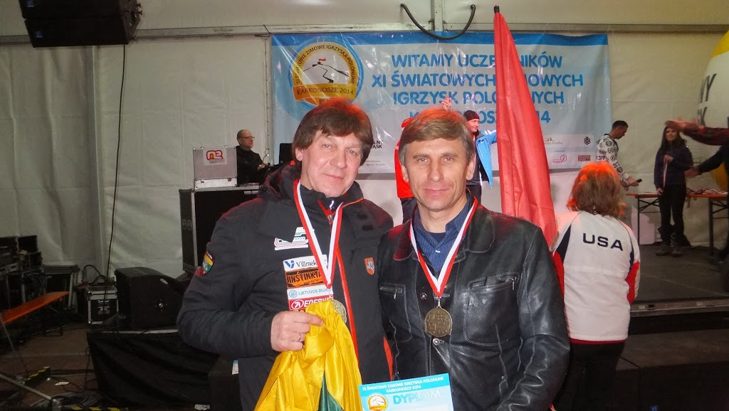Multi medaliści XI ZIP Marian Kaczanowski z Litwy i Andrzej Krygowski z USA