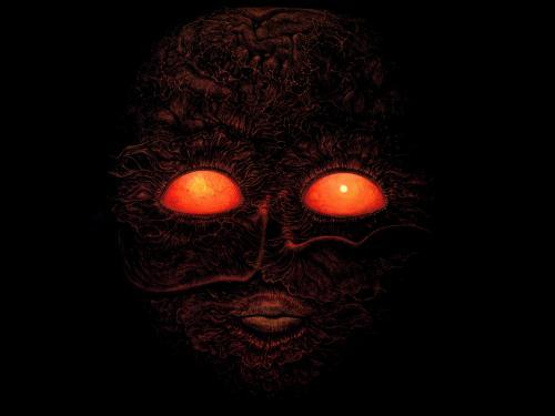 Zdzislaw Beksinski Flame Eyes, Death