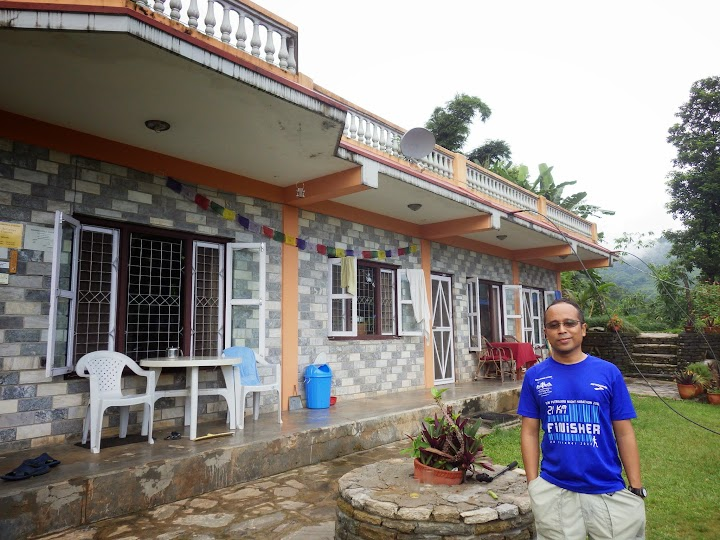 This is our lodging in Pokhara for one night before our trekking started. The Hidden Paradise Guest House, 20mins from Pokhara, it's a really quiet, serene, peaceful, strategically situated on top of a hill, overlooking the Phewa Lake. I booked this from Airbnb.com website at € 16