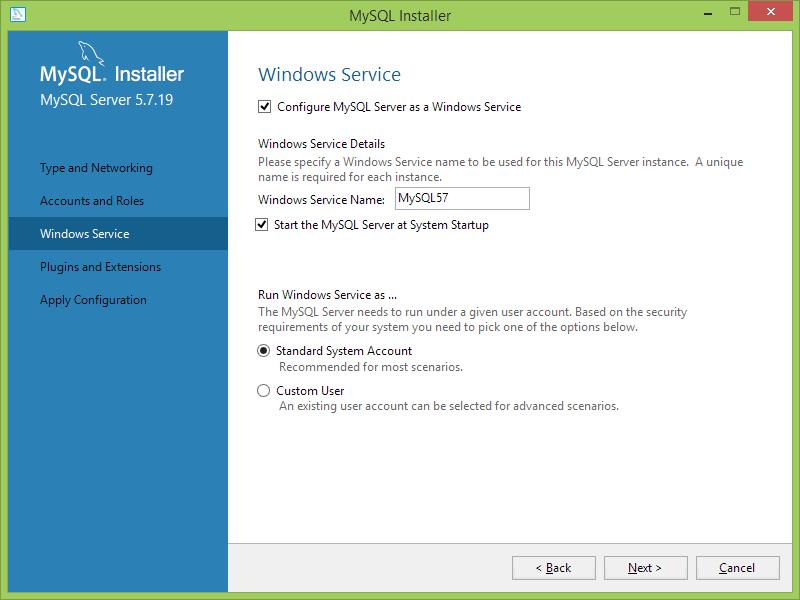 Instalar MySQL como sevicio de windows