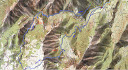 Carte de la région Ouest-Chisa avec la boucle Arinella-Luvana