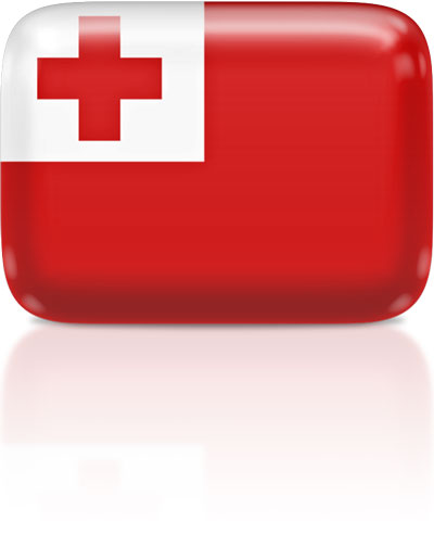 Tongan flag clipart rectangular